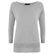 Buy Mint Velvet Boxy Silk Hem Jumper, Silver Online at johnlewis.com