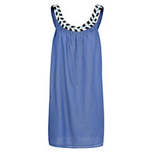 Buy Mango Loose Bead Dress, Medium Blue Online at johnlewis.com