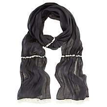 Buy Mint Velvet Damson Gauzy Scarf, Purple Online at johnlewis.com