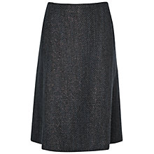 Buy Jaeger Metallic Skirt, Charcoal Online at johnlewis.com