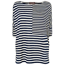 Buy Phase Eight Oversize Striped Top, Navy/Ivory Online at johnlewis.com