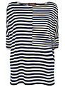 Phase Eight Oversize Striped Top, Navy/Ivory