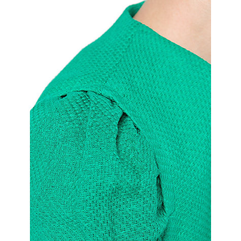 Buy Mango Cotton Zip Jacket, Medium Green Online at johnlewis.com