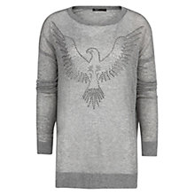 Buy Mango Eagle Strass Sweater, Medium Grey Online at johnlewis.com