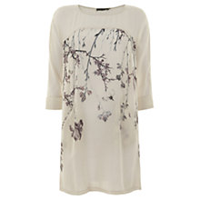 Buy Mint Velvet Gracie Print Tunic Top, Neutrals Online at johnlewis.com