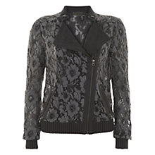 Buy Mint Velvet Biker Jacket, Grey Online at johnlewis.com