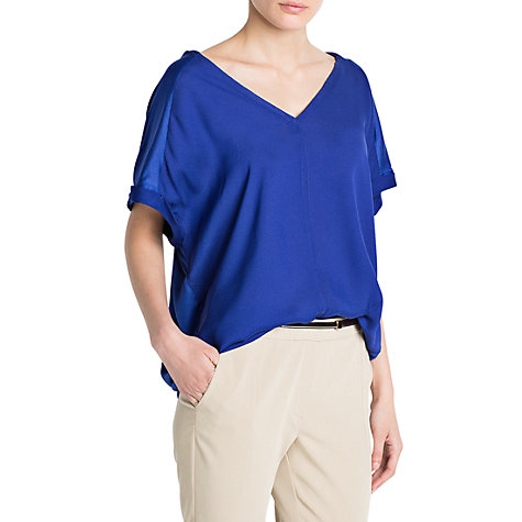 Buy Mango Double V-Neck T-Shirt Online at johnlewis.com