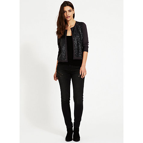 Buy Mint Velvet Damson Sequin Cardigan, Purple Online at johnlewis.com