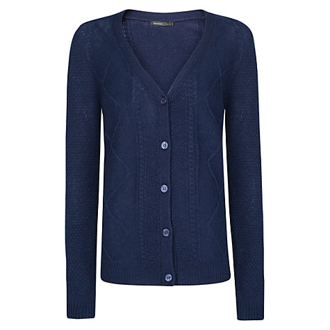 Buy Mango Cable V-Neck Knitted Cardigan Online at johnlewis.com
