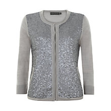 Buy Mint Velvet Sequin Front Cardigan, Grey Online at johnlewis.com