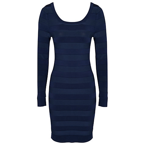 Buy French Connection Spotlight Dress, Blue Online at johnlewis.com