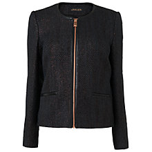 Buy Jaeger Metallic Jacket, Charcoal Online at johnlewis.com