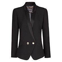 Buy Mango Double Breast Crepe Blazer, Black Online at johnlewis.com
