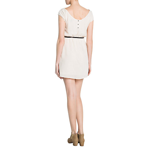 Buy Mango Eagle Embroidered Dress, Natural White Online at johnlewis.com