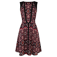Buy Warehouse Ornate 70's Print Dress, Multi Online at johnlewis.com