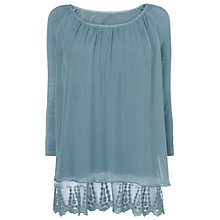 Buy Phase Eight Made in Italy Padma Lace Trim Blouse Online at johnlewis.com
