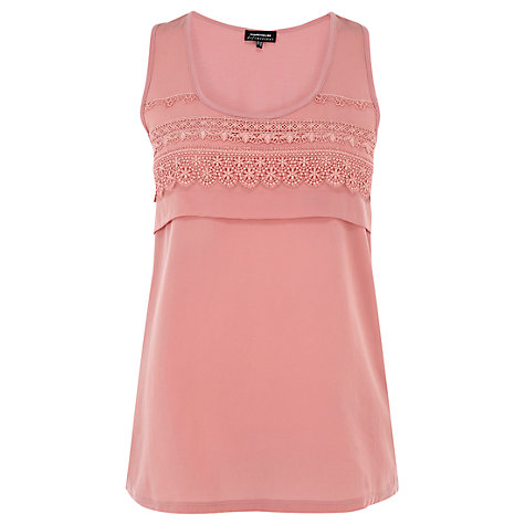 Buy Warehouse Lace Trim Vest Online at johnlewis.com