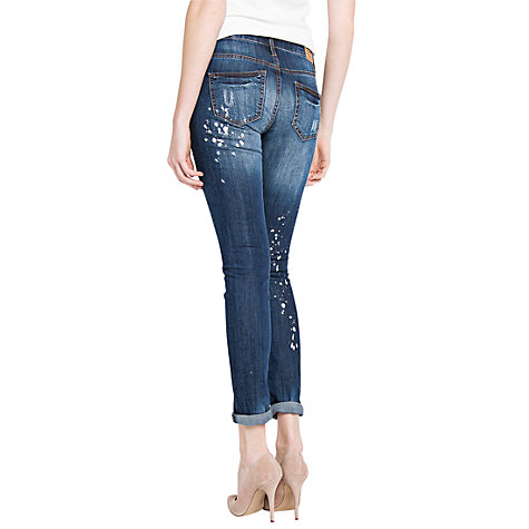 Buy Mango Slim Vintage Cropped Jeans Online at johnlewis.com