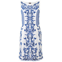 Buy Phase Eight Embroidered Shift Dress, Lapis/White Online at johnlewis.com