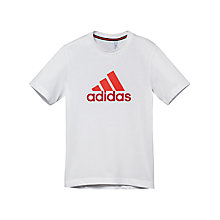 Buy Adidas Boy's Essential Logo T-Shirt Online at johnlewis.com