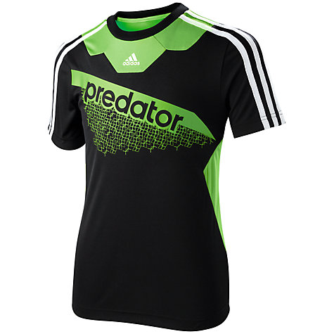 Buy Adidas Boy's Predator Logo T-Shirt Online at johnlewis.com