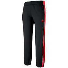 Buy Adidas Boys' Essential 3 Stripes Closed Hem Track Pants, Black/Red Online at johnlewis.com