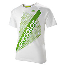 Buy Adidas Boy's Predator Logo Crew Neck T-Shirt Online at johnlewis.com
