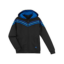 Buy Adidas Boy's Essentials 3 Stripes Full Zip Hoodie Online at johnlewis.com