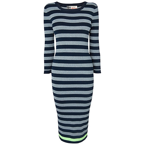 Buy Boutique by Jaeger Lurex Striped Dress, Navy Online at johnlewis.com