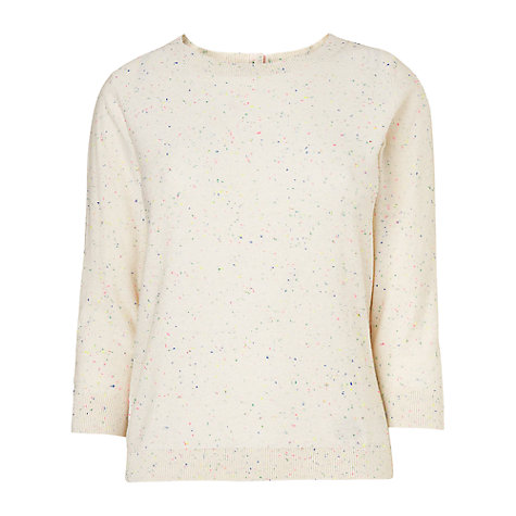 Buy Boutique by Jaeger Fluoro Fleck Sweater, Ivory Online at johnlewis.com