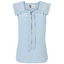 Buy Boutique by Jaeger Tie Front Blouse, Light Blue Online at johnlewis.com