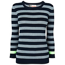 Buy Boutique by Jaeger Lurex Striped Jumper, Navy Online at johnlewis.com