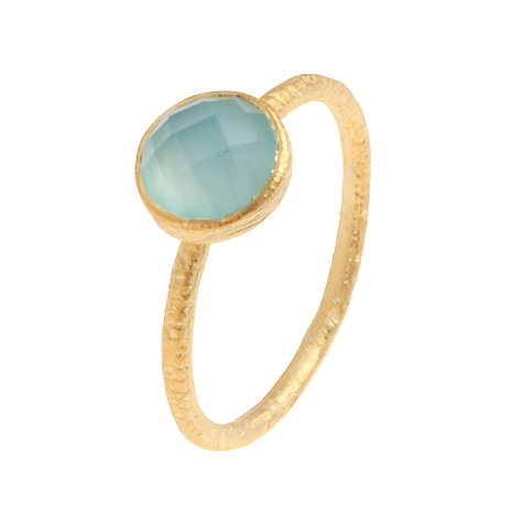 Buy Pomegranate 18ct Gold Vermeil Cupcake Chalcedony Stacking Ring Online at johnlewis.com