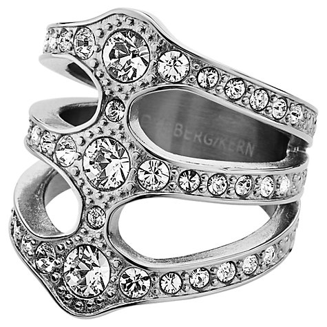 Buy Dyrberg/Kern Robina Silver Plated Swarovski Crystal Statement Triple Ring Online at johnlewis.com