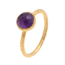 Buy Pomegranate 18ct Gold Vermeil Cupcake Amethyst Stacking Ring Online at johnlewis.com