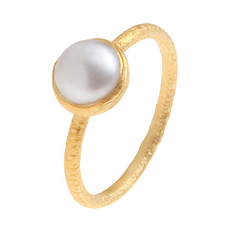 Buy Pomegranate 18ct Gold Vermeil Cupcake Freshwater Pearl Stacking Ring Online at johnlewis.com