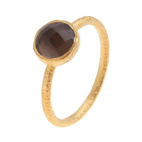 Buy Pomegranate 18ct Gold Vermeil Cupcake Smoky Quartz Stacking Ring Online at johnlewis.com