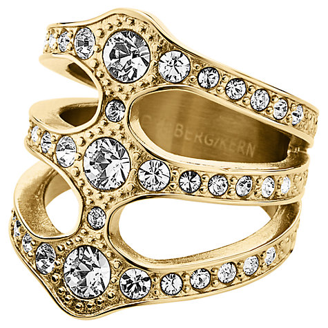 Buy Dyrberg/Kern Robina Swarovski Crystal Triple Row Ring, Gold Online at johnlewis.com