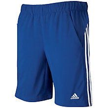 Buy Adidas Boys' Chelsea Woven Shorts, Blue/White Online at johnlewis.com