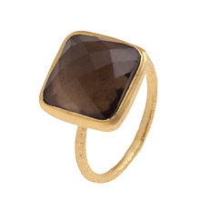 Buy Pomegranate 18ct Gold Vermeil Smoky Quartz Square Ring Online at johnlewis.com