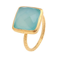 Buy Pomegranate 18ct Gold Vermeil Chalcedony Square Ring Online at johnlewis.com