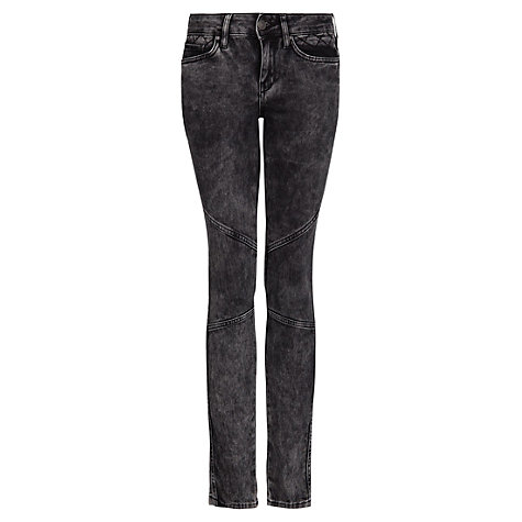 Buy Mango Slim Fit Biker Skinny Jeans, Black Online at johnlewis.com