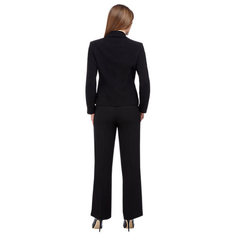 Buy Precis Petite Textured Straight Trousers, Black Online at johnlewis.com