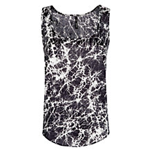 Buy Mango Digital Print Top, Black Online at johnlewis.com