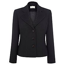 Buy Precis Petite Textured Pleat Jacket, Black Online at johnlewis.com