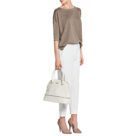 Buy Mango Metallic Jumper, Light Pastel Brown Online at johnlewis.com