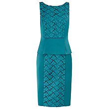 Buy Alexon Lace Peplum Dress, Blue Online at johnlewis.com