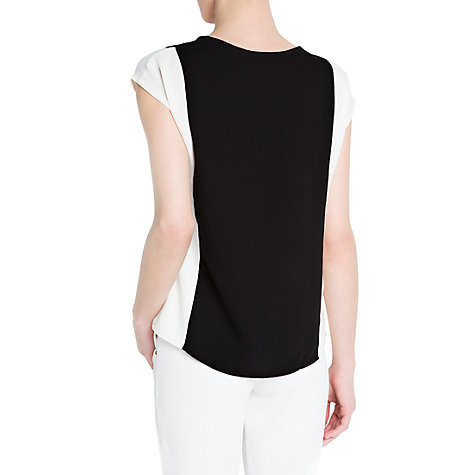 Buy Mango Bi-Colour Top, Black Online at johnlewis.com