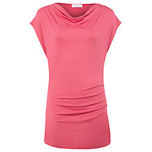 Buy Kaliko Draped Shoulder Top, Pink Online at johnlewis.com