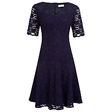 Buy Kaliko Lace Flippy Dress, Dark Blue Online at johnlewis.com